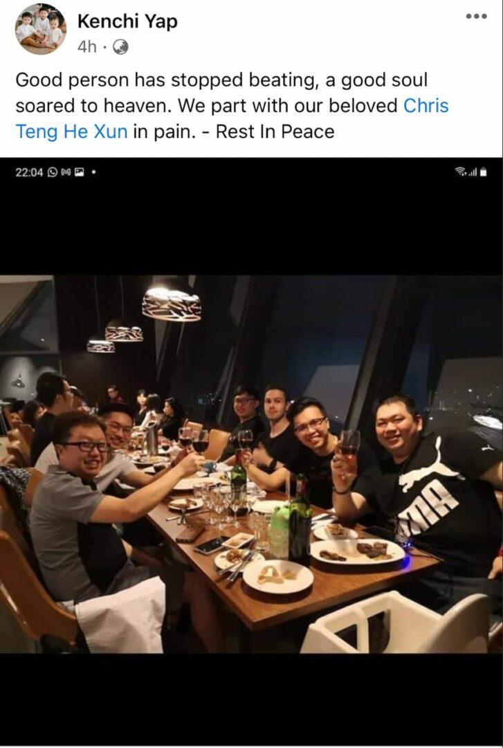 Malaysian Producer Chris Teng He Xun Dies